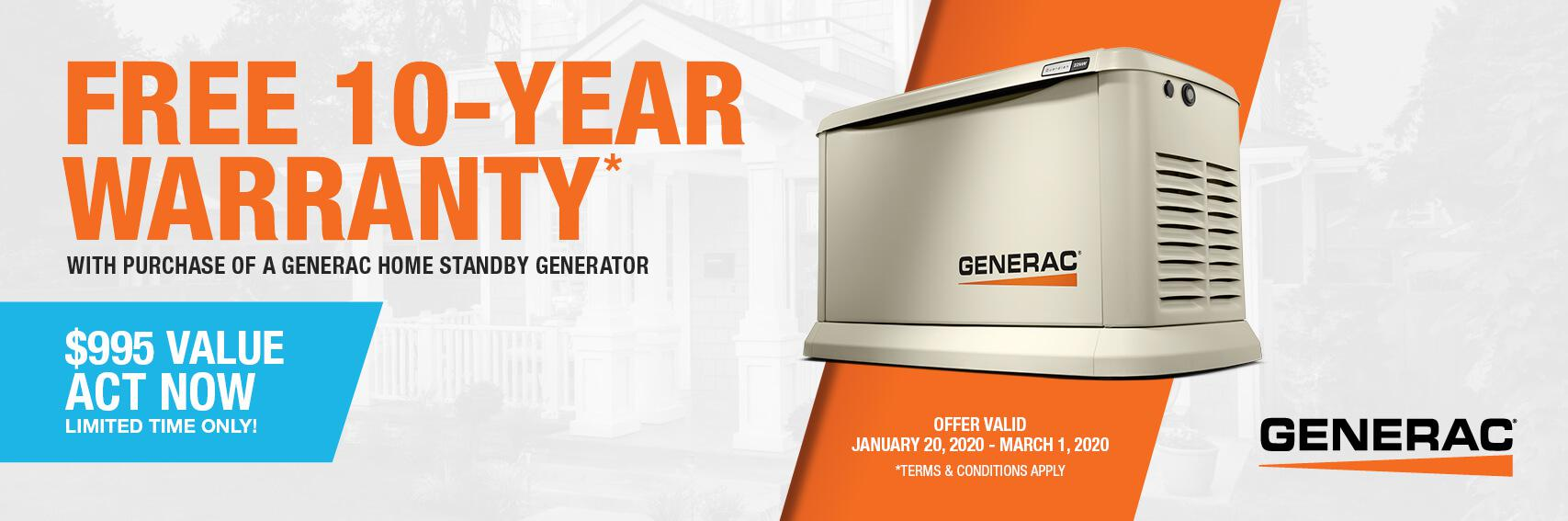Homestandby Generator Deal | Warranty Offer | Generac Dealer | Summerland Key, FL